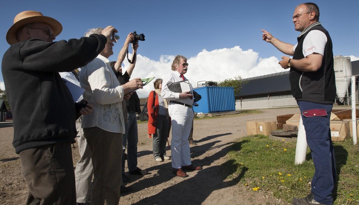 Åke Hantoft, næstformand i bestyrelsen i Arla Foods; her på gården ved Laholm, Sverige. Dato: 11.05.09 © Foto: Claus Haagensen