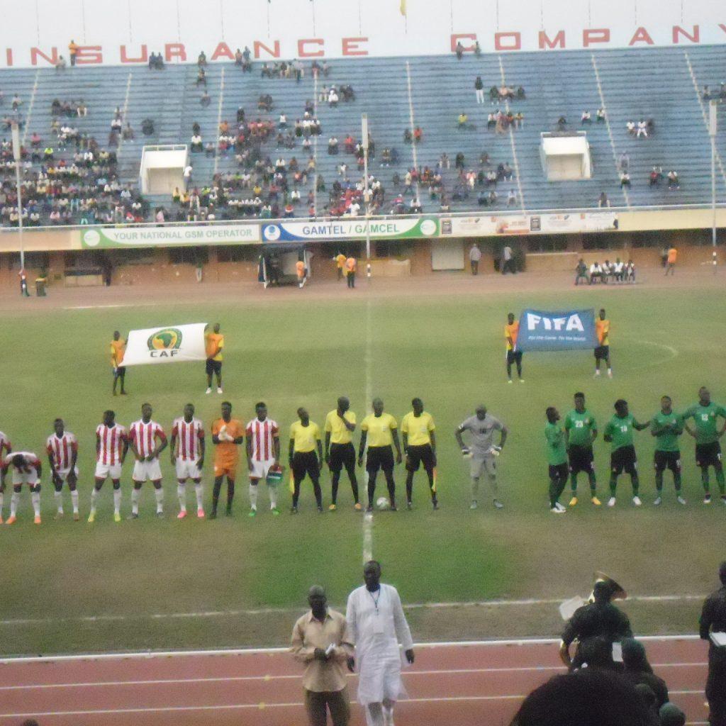Landskamp Gambia - Zambia