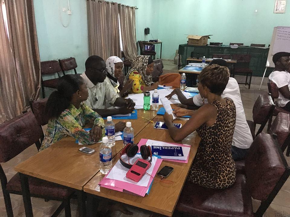 Fra Træningen I Gambia November 2016. Foto: Frederik Thalbitzer