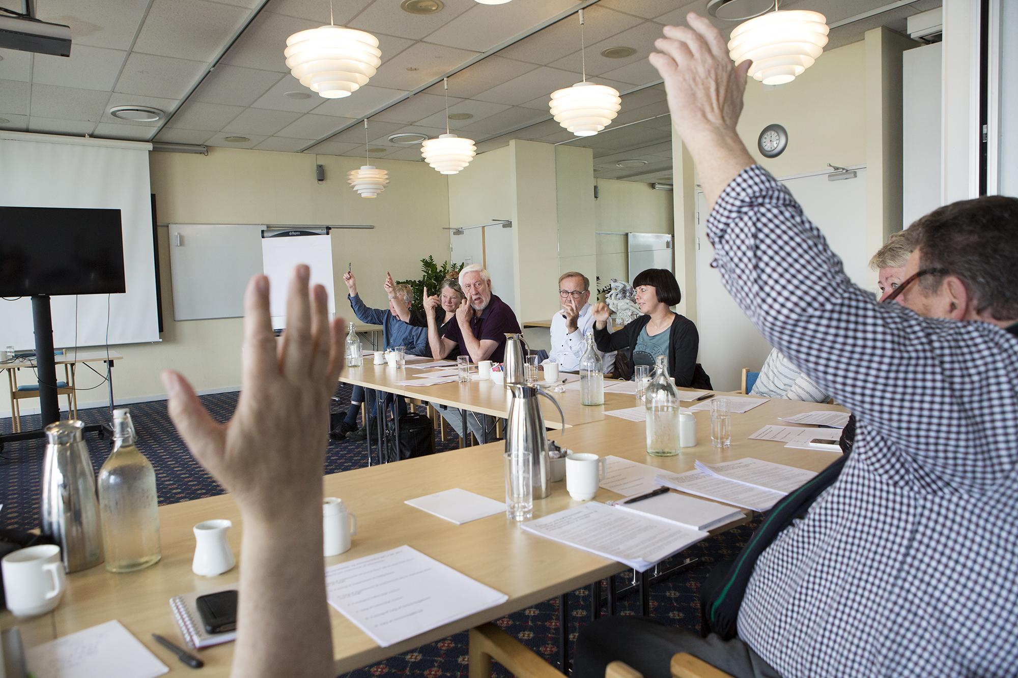 Der Bliver Stemt På Generalforsamlingen For Danske Fødevare- Og Landbrugsjournalister I Hirtshals Torsdag 18. Maj 2017. Foto: Claus Haagensen.