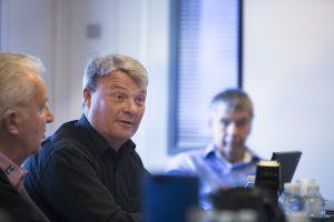 Per Jørgensen, direktør i Landbrugets Mediehus, kritiserede støtten for at være skæv og konkurrenceforvridende. Landbrugets medier får ingen støtte, men det gør medier for byggebranchen og dele af dagspressen som fagmedierne konkurrerer med, påpegede han. Foto: Claus Haagensen