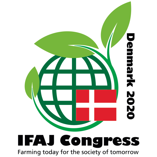 Logo for IFAJ kongres i Danmark 2020