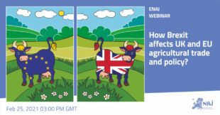 ENAJ Webinar – How Brexit Affects UK And EU Agricultural Trade Policy?